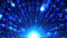 Голубые кубы прокладывают тоннель бесплатная иллюстрация
