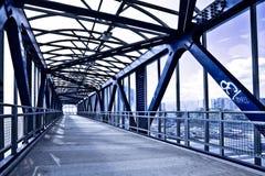 голубые лестницы корридора Стоковые Изображения RF