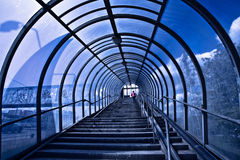голубые лестницы корридора Стоковое Изображение RF