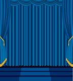 голубые лестницы этапа Стоковые Фото