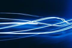Голубые линии безграничность волн абстракции предпосылки стоковые фотографии rf