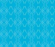 голубые линии делают по образцу безшовный вектор волнистый Стоковое Изображение RF