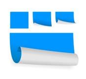 Голубые липкие бумаги Стоковое Изображение RF