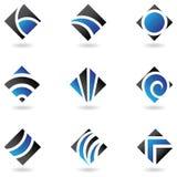 голубые логосы диаманта иллюстрация вектора