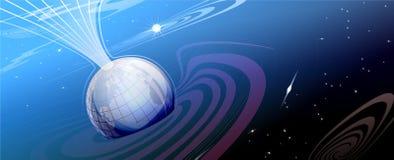 голубые лучи глобуса Стоковое фото RF