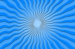 голубые лучи греют на солнце волнистое Стоковая Фотография