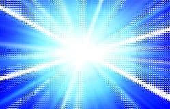 голубые лучи иллюстрации Стоковая Фотография