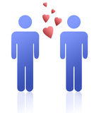 голубые люди влюбленности Стоковое Изображение