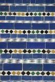 голубые морокканские лестницы мозаики Стоковое фото RF