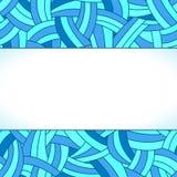 Голубые нарисованный вручную линии предпосылка Стоковые Изображения