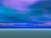 голубые небеса пустыни иллюстрация штока