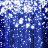 голубые ничходящие звезды иллюстрация вектора
