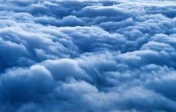 Голубые облака от большой возвышенности Стоковые Изображения RF