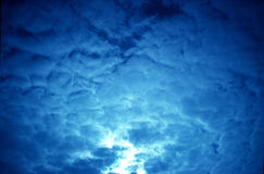 голубые облака Стоковое Фото