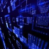 голубые обои матрицы иллюстрации Стоковое Фото
