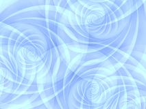 голубые опаковые свирли спиралей Стоковая Фотография RF