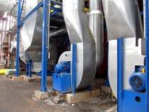 Голубые отработанные вентиляторы Стоковое Изображение RF