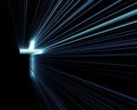 голубые перекрестные света Стоковые Фотографии RF