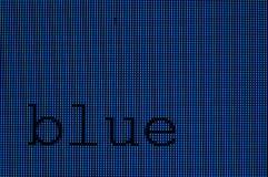 голубые пикселы Стоковая Фотография