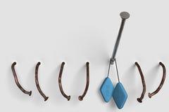 голубые пилюльки ногтя Стоковые Изображения
