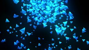 Голубые пирамиды на черной предпосылке Соединение пирамиды 3d с геометрическое полигональным E cyberspace Sym дела бесплатная иллюстрация