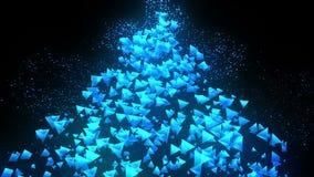 Голубые пирамиды на черной предпосылке Соединение пирамиды 3d с геометрическое полигональным cyberspace Символ дела бесплатная иллюстрация