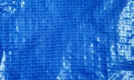 голубые пластичные текстура и предпосылка сумки мешка Стоковые Изображения RF