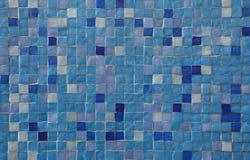 голубые плитки мозаики Стоковые Изображения