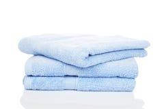 голубые полотенца Стоковое фото RF