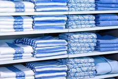 голубые полотенца Стоковые Фото