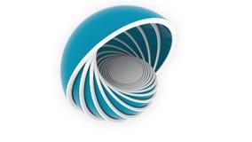 Голубые полусферы или шары приспосабливать один другого дизайн 3D, различный размер или пластмассы связали loopable анимация бесплатная иллюстрация