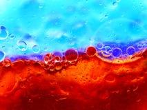 голубые пузыри красные Стоковая Фотография RF