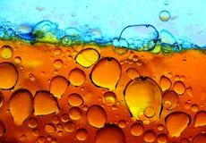 голубые пузыри померанцовые Стоковые Фотографии RF