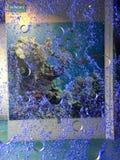 голубые пузыри стоковые фотографии rf