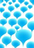 голубые пузыри Стоковое Изображение