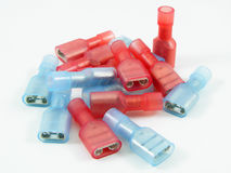 голубые разъемы гофрируют красный цвет стоковые фото