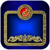 голубые рамки Стоковые Изображения
