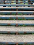 голубые ржавые лестницы Стоковые Изображения