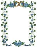 голубые розы приглашения wedding Стоковое Изображение RF