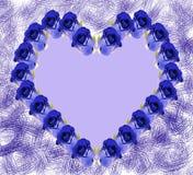 голубые розы сердца Стоковые Фотографии RF