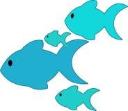 Голубые рыбы Стоковые Фото
