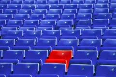 голубые рядки сидят стоковые фото