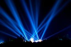 Голубые самые интересные от концерта стоковые фотографии rf