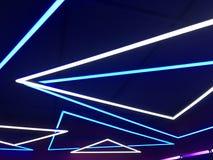 голубые света неоновые стоковое фото
