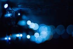 Голубые света с красивым влиянием bokeh стоковые изображения