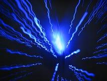 голубые светлые трейсеры Стоковые Фотографии RF