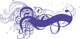 голубые свирли Стоковое фото RF