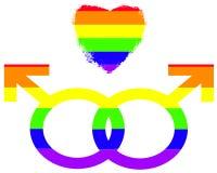 голубые символы гордости влюбленности Стоковые Фотографии RF