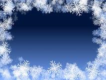 голубые снежинки рамки иллюстрация вектора