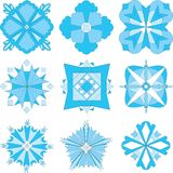 голубые снежинки Стоковые Изображения